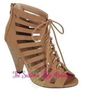 Shoes - ️5Toe Caged Booties w/Chunky Cone Heel 2 Colors
